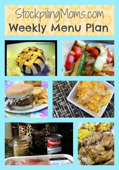 Weekly Menu Plan - by menu planning you are able to save time and money!