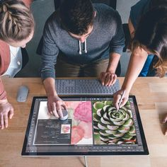 Collaboration should be hands-on, and as many of them as you have room for. Surface Studio, Tablet Reviews, Drawing Tablet, Microsoft Surface, New Technology, Cool Drawings, Gadgets, Ux Designer, Desktop