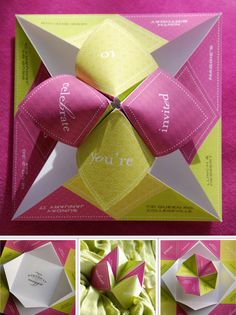 cootie catcher invite
