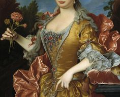 Queen María Bárbara of Spain, née Portugal (ca. 1729) (Detail), by Jean Ranc (1674-1735)