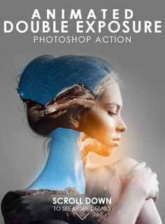 Animated Double Exposure Photoshop Action - Photo Effects Actions
