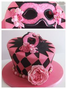 Masquerade harlequin - by Scrumptiousjo @ CakesDecor.com - cake decorating website