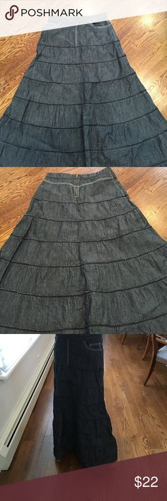 """Sale! Junee Denim skirt Approximately 36-1/2"""" length.  14"""" waist. junee Skirts A-Line or Full"""
