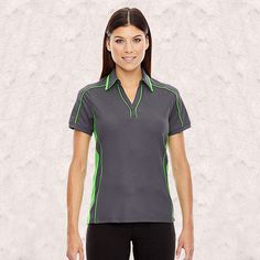 Ash City-North End Sport Red-Sonic Ladies Performance Polyester pique Polo-78648
