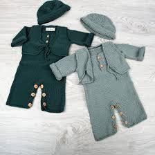 Resultado de imagen para ropa de bebe varon recien nacido tejida