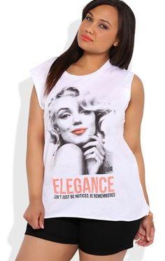 Deb Shops Plus Size Marilyn Monroe Elegance Tunic Tank $22.00