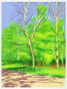 David Hockney | The Arrival of Spring in Woldgate, East Yorkshire in 2011 (twenty eleven) - 27 April, 2011  (2011), Available for Sale | Artsy
