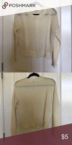 cream colored sweater never worn TOBI cream colored sweater Tobi Sweaters
