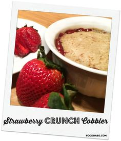 Healthy Strawberry Cobbler Ingredients Filling: 2 cups strawberries 3 tablespoons coconut palm sugar 1 tablespoon of arrowroot powder or non-GMO corn starch 1 teaspoon lemon juice Crust: ½ cup oat flour ¼ cup rolled oats ¼ cup chopped almonds 1 tablespoon coconut palm sugar pinch of salt ¼ teaspoon cinnamon ⅛ teaspoon nutmeg ⅛ teaspoon ginger 2 tablespoons coconut oil ¾ teaspoon vanilla