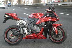 Street Bike Graphics Kits - Bonecollector in Red