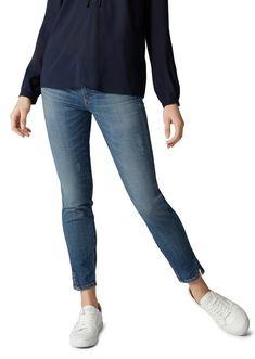Marc O'Polo Slim-fit-Jeans für 129,90€. Lässige Jeans mit dezenten Vintage-Details, Aus Baumwoll-Mix, Slim Fit, Normale Leibhöhe, Cropped Length bei OTTO