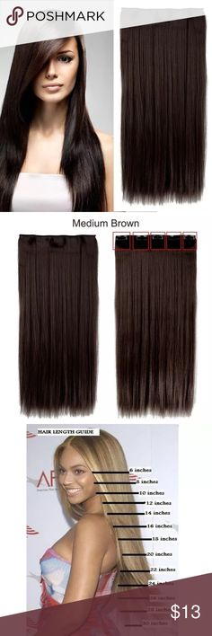 26 l straight real thick hair extensions 26 l straight real thick 23 l straight real thick med brown hair extensions 23 l straight real thick high quality medium brown 1 piece clip in synthetic hair extensions will come pmusecretfo Gallery