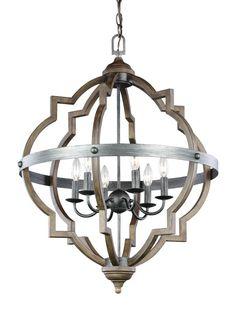 Sea Gull Lighting 5124906 Socorro 6 Light Foyer Pendant Stardust Indoor Lighting Pendants