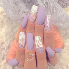 Best Gel Nail Art Designs For Long Best Gel Nail Art Designs For Long Nails 2018 Gel nails ar a lot of best nails since they need very little odds of obtaining raised and facilitate in reinforcing the real nails if utilised as a base c Fancy Nails, Diy Nails, Cute Nails, Diy Acrylic Nails, Faux Ongles Gel, Nail Lacquer, Gel Nail Art Designs, Manicure E Pedicure, Manicure Tools