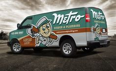 This visually captivating truck wrap for this plumbing contractor really speaks to a positive brand promise, while encouraging name recognition. The best truck wraps stand out, instead of blending with the rest of the visual clutter typical of this industry.