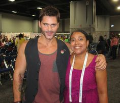 POZ Army General @Jack Mackenroth poses with a fan at the International #AIDS Conference in Washington, DC.
