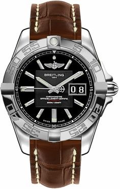 Shop for Breitling Women's Black Leather Watch. Get free delivery On EVERYTHING* Overstock - Your Online Watches Store! Breitling Avenger, Cool Watches, Watches For Men, Authentic Watches, Brown Leather Watch, Stainless Steel Types, Skeleton Watches, Online Watch Store, Fashion Watches