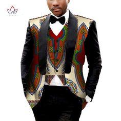 African Dresses for Men Mens Blazer Jacket Dashiki Men Blazer Masculino