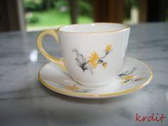 Vintage Miniature Shelley Yellow Flower Cup Saucer England Mini Bone China | eBay