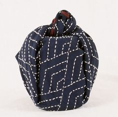 sashiko stitched furoshiki by Alderspring Design, via Flickr