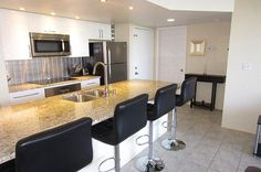 """Kitchen bar stool seating - Key West Top Floor Condo """"Seaside Breeze"""" -Monthly -  - rentals"""