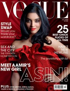 Asin. Vogue India July 2008.