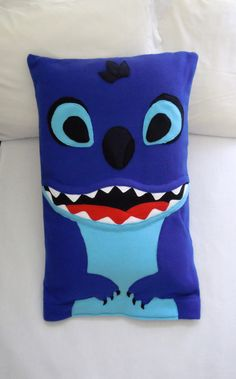 Inspired by Disneys Stitch from the Lilo and Stitch movie. This soft and cuddly fleece pillowcase is perfect for sleeping with, watching your