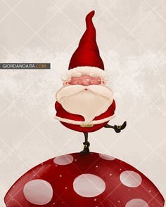 Santa on fungus - © Giordano Aita - All right reserved     http://it.fotolia.com/p/120313/partner/120313