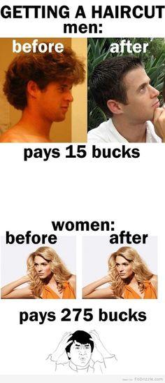 Haircuts loll
