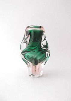 Chribska Josef Hospodka 1960s spiraling by CzechGlassCollector