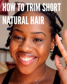 How to trim short natural hair. A video tutorial featured on Natural Hair Mag.