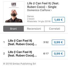 🎵 You In My Heart, In My Soul 🎵 ...nel mio cuore... nella mia anima...❕ ''Io preferisco l'emozione che corregge la regola''                                                      Come fa la musica a sapere sempre quello che senti❓❗❓                                      #life (I Can Feel It) DISPONIBILE SU: ⬇ - iTunes - https://itunes.apple.com/it/album/life-i-can-feel-it-feat.-ruben/id1113528607 @smilax_publishing