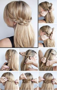 Fast, Simple and Elegant Party Hairstyles - Trend 2018 These ✿ . - - Fast, Simple and Elegant Party Hairstyles – Trend 2018 These ✿ … – Fast, Simple and Elegant Party Hairstyles – Trend 2018 These ✿ … – Easy Hairstyles For Medium Hair, Step By Step Hairstyles, Bun Hairstyles, Engagement Hairstyles, Hairstyle Ideas, Hairstyle Tutorials, Indian Hairstyles, Fashion Hairstyles, Simple Party Hairstyles