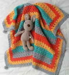 Baby Brights....Buggy Blanket-version of Retro Baby Buggy Blanket (US Version)