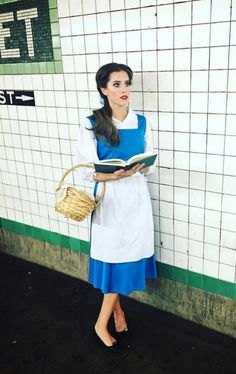 Allison Williams as Belle from Beauty and the Beast - click through for more pop culture fashion Halloween costumes!