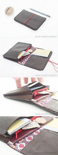 mini leather organizer Handmade Wallets, Handmade Items, Cowhide Leather, Soft Leather, Handmade Leather Wallet, French Brands, Custom Leather, Selling Online, Minimalist Fashion