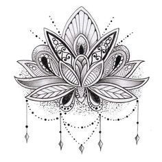 Sets Lotus Flower temporary tattoos