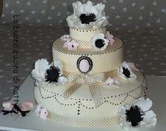 La buona cucina di Katty: Torta con anemoni bianchi - Cake with white anemones