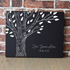 Cathy's Concepts Family Tree Chalkboard Sign Wall Decor, Black Diy Canvas, Canvas Art, Family Painting, Diy Painting, Long Painting, Chalkboard Signs, Chalkboards, Chalkboard Walls, Kitchen Chalkboard