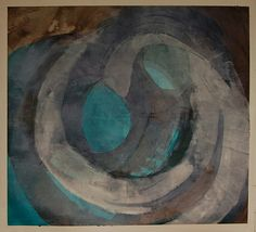Karen L. Darling | Eye of the Storm | oil and cold wax on mineral paper /sm