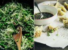 spring vegetable potstickers + sweet chili soy dip // the first mess