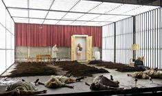 Burgtheater S Production Of Unverheiratete By Ewald Palmetshofer At Theatertreffen Berlin Scenic Design