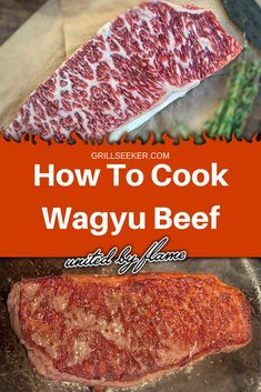 How to cook wagyu beef on your grill in a cast iron skillet. Six steps to the perfect wagyu steak. How to Cook Wagyu Beef simply—step by step with pictures. The process is super simple. So relax, I'll walk you through the process. Beef Fajita Recipe, Beef Steak Recipes, Beef Fajitas, Stew Meat Recipes, Beef Stew Meat, Beef Ribs, Cooking Recipes, Cooking Tips, Steak Tips