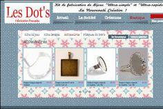 Les Dots : Kits de fabrication de bijoux, boutique en ligne, perles bois, perles metal, perles de qualité, accessoires pour creer vos bijoux...