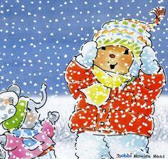 Bobbi in de winter.