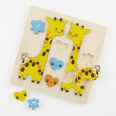 The Land of Nod   Kids Puzzles: Giraffe Animal Puzzle in Puzzles