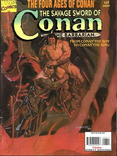 227 - The Savage Sword Of Conan composed by Roy Thomas, Robert E. Howard, Gil Kane of the Action, Adventure, Family genres. Conan Comics, Marvel Comics, Comic Book Covers, Comic Books Art, Ed Roth Art, Death Of Superman, Savage Worlds, Dungeons And Dragons Characters, Conan The Barbarian