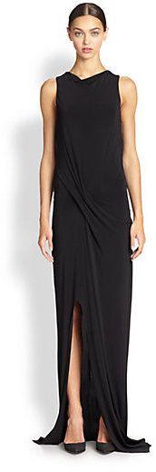 Asymmetrical Cutout-Back Maxi Dress