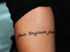 I want this tattoo, it says forever young, which is mine and my dads song. <3
