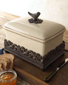"""House Finch"" Bread Box by GG Collection at Horchow."
